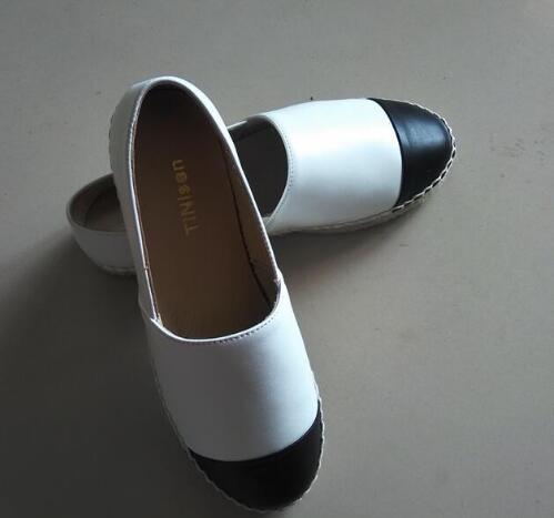 34 Espadrille Qualité kaki Appartements Bout Noir Luxe Véritable Femmes Mouton Cuir Peu blanc Profonde Rond bleu Peau En Chaussures De Haute 42 rwra18pxq