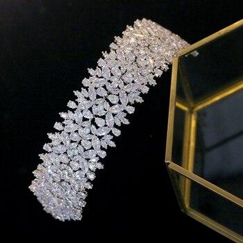 ASNORA Luxury vintage baroque girl headdress wedding hair accessories jewelry bride crown jewelry gift