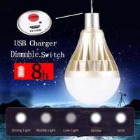 Lampe de LED Ampoule d'urgence Rechargeable USB 12W 20W 30W 40W Ampoule Ampoule LED 110V 220V Bombillas LED éclairage extérieur à la maison