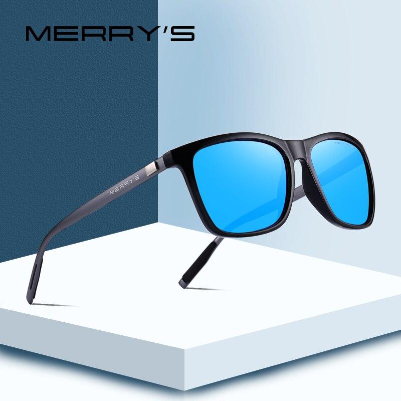 MERRYS DESIGN Óculos Polarizados Óculos de Sol Das Mulheres Dos Homens  Clássico Quadrado Pernas de Alumínio cc4f1091ff