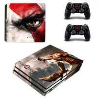 Dios de la guerra Pegatina PS4 Pro pegatinas Vinilo Pegatina PS 4 Play station 4 Pro piel para PlayStation4 Pro consola Y dos controlador