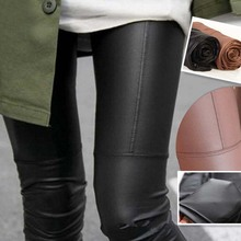 Autumn Winter Faux Leather Leggings For Women