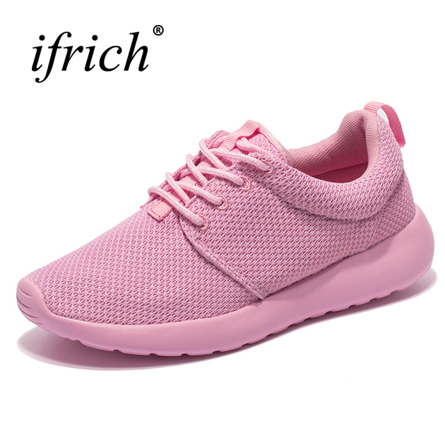 2019 New Arrival Brand Running Shoes Women Mesh Breathable Trainers Ladies Jogging  Shoes Pink Black Sports Footwear Cheap Runner bcda62437e4f