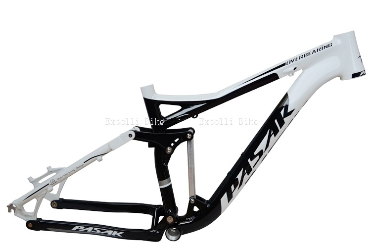 7005 Aluminum Alloy Cycling Frame Soft-tail Frame Full Suspension Downhill Mountain Bike26 27.5 Frame For Disc Oil Brake for 21 speeds01