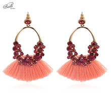 Badu Bohemian Tassel Earring for Women 4 Colors Ethnic Baroque Long Fringed Dangle Earrings Fashion Jewelry Christmas Gift