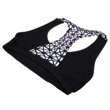 Women Yoga Sets Black Color Print Sport Bra Top And Pants Female Running Tights