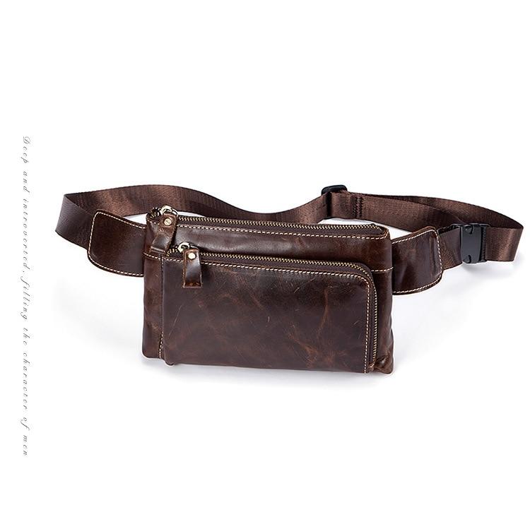 Topdudes.com - Genuine Leather Vintage Waist  Bag