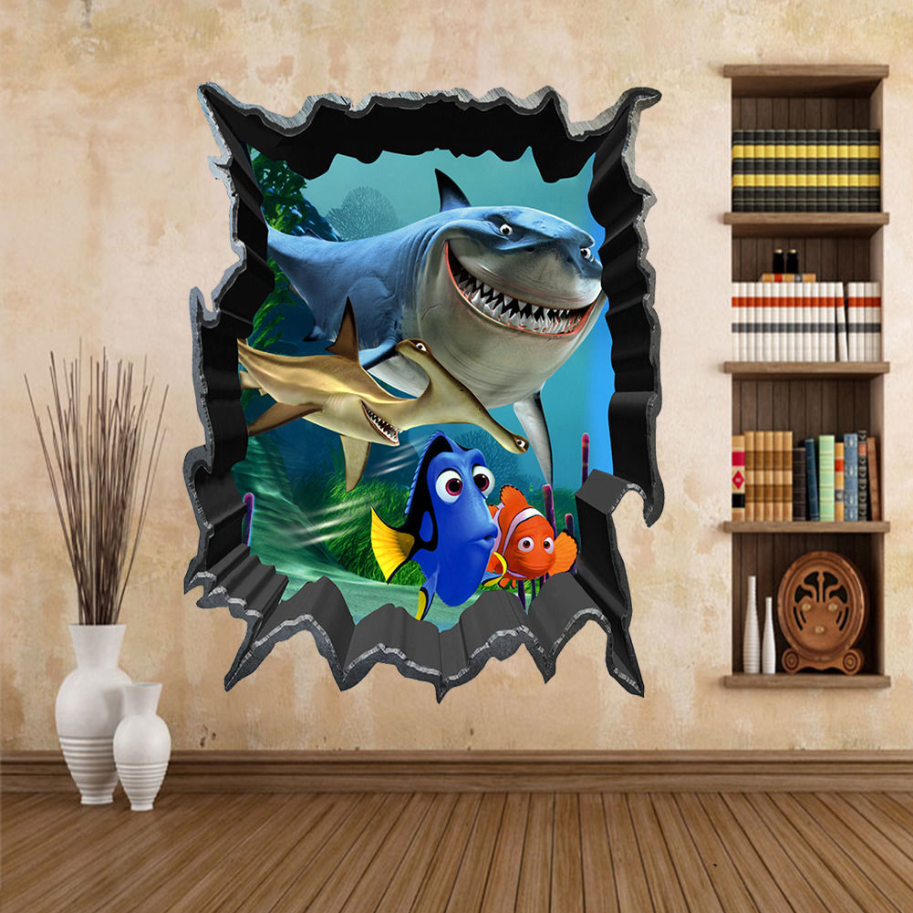 Huge 3D Porthole Beautiful Peacock View Wall Stickers Mural Decal Wallpaper 243