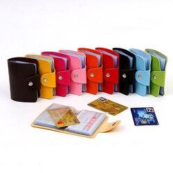 1 шт., случайный цвет, модный кредитный держатель для карт, 24 бита, Чехол для карт, органайзер для визиток, для мужчин и женщин, кошельки, офисн...