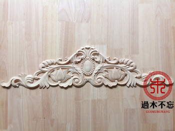 Do not forget to log Dongyang woodcarving flower carved wood applique European style wooden furniture wine cabinet patch flower