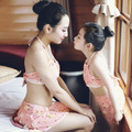 New Hot Sale Child Summer Swimsuits Baby Kid's Floral Swimwear Bathing 3Piece Set mother and daughter family look Swimming Wear