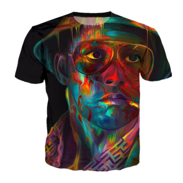 1c14bafbf Sondirane New Fashion Mens Fear and Loathing In Las Vegas 3D Print Casual T- Shirt Summer Short Sleeve Hip Hop Tops Tees Clothing