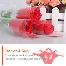 thong girl embroidery pattern sexy T style thong romantic rose style packing цены