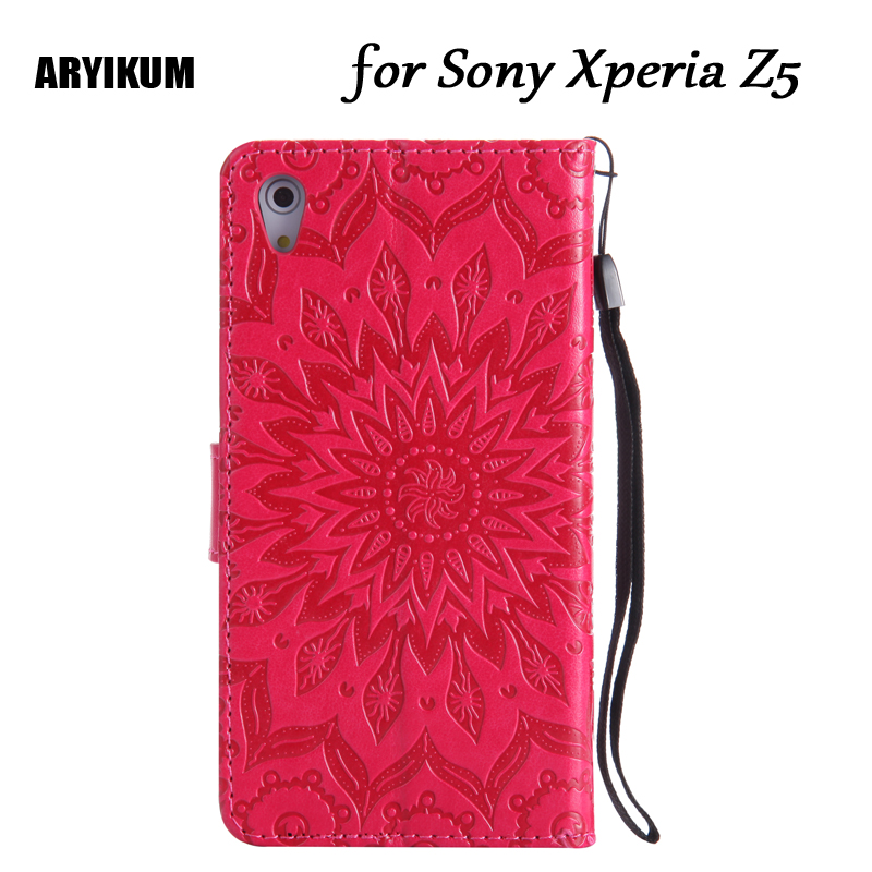 3D Pattern Wallet Flip Cover For <font><b>Sony</b></font> Xperia Z5 Dual <font><b>E6633</b></font> E6683 E6653 E6603 Cat Tree Leather Case For <font><b>Sony</b></font> Experia Z5 Coque image