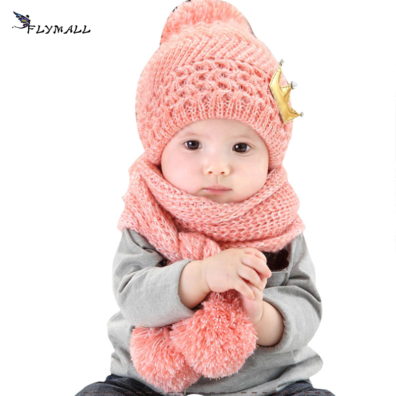 2017 Winter Baby Hat And Scarf Children's Spire Soft Baby Hats Children Neck Warmer Crochet Knitted Caps for Boys Girls Kids donnalla cute hat beanie hooded neck shawls baby kids winter warmer knit woolen crochet bowknot cape scarf hats
