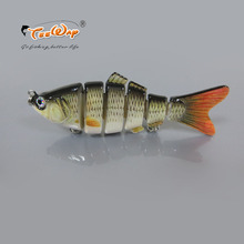 Fishing Wobbler Lifelike Fishing Lure 6 Segment Swimbait Crankbait Hard Bait Slow 10cm 18g Isca Artificial Lures Fishing Tackle