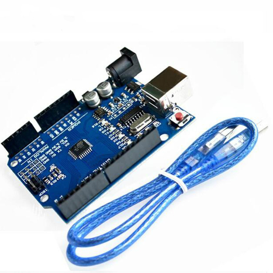 1pcs high quality UNO R3 board MEGA328P CH340G for Arduino compatible board nano Compatible with USB CABLE купить в Москве 2019
