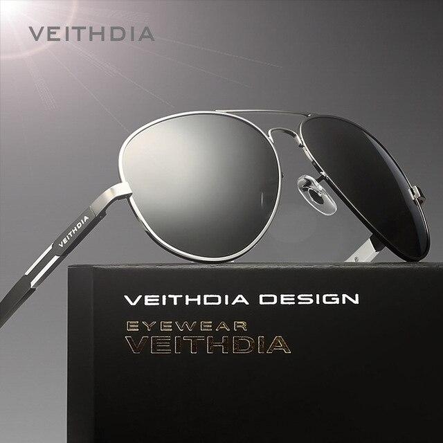 Veithdia hd marca gafas de sol polarizadas de los hombres 2017 new de los hombres de la vendimia gafas oculos sunglass deportes gafas de conducción gafas gafas