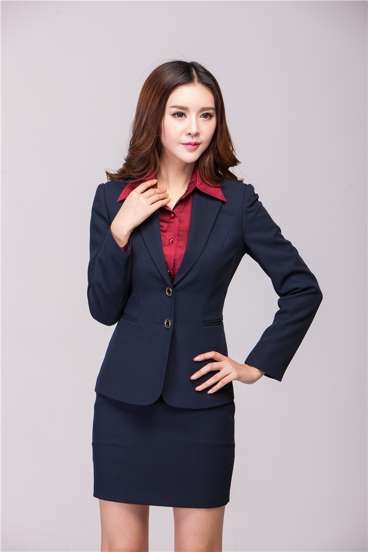 b91ef69c39b Autumn Winter Formal Office Uniform Designs Women Suits with Skirt ...