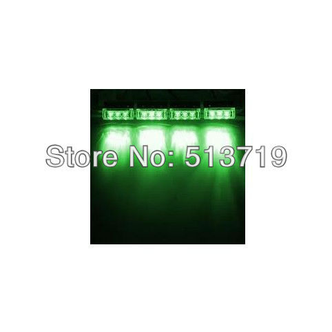 Free shipping 12 LED Green 3 Modes Emergency Vehicle Boat Truck Car Strobe Lights купить