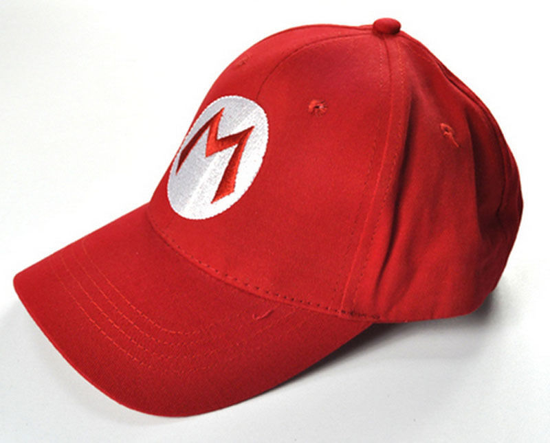 Adjustable Cap Baseball Mario-Letter Green Cosplay Hot-Fashion Casual Cotton Hat Red