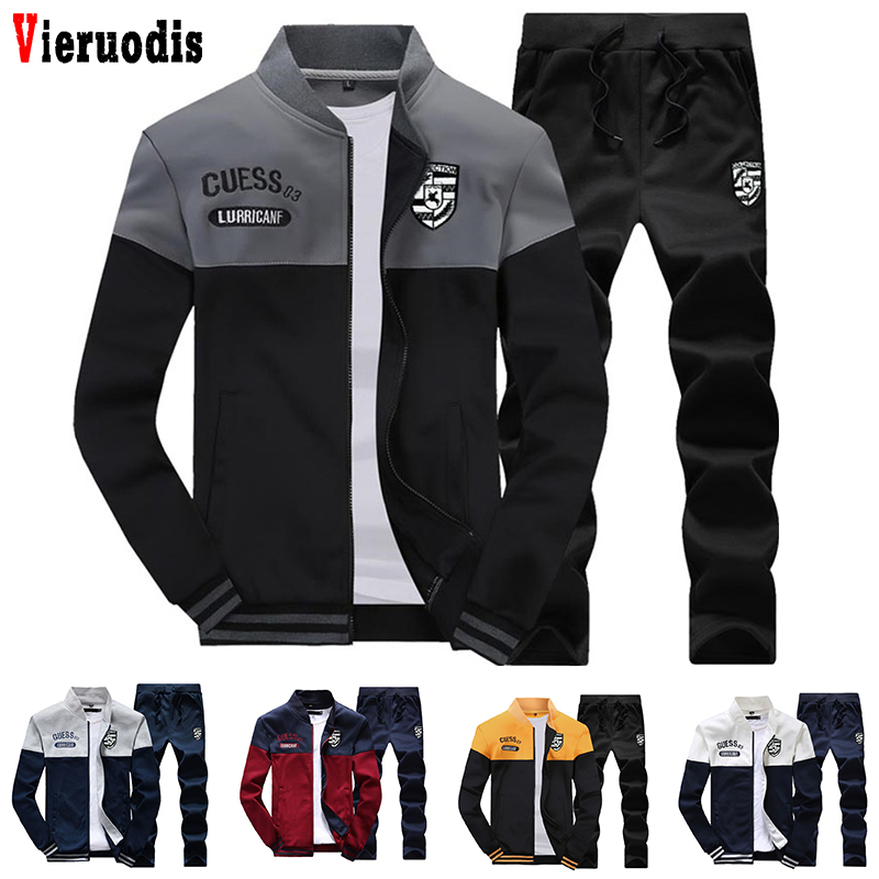 Spring Men And Autumn Casual Sweatshirt+Sweatpants Two Pieces Tracksuit Men Slim Tracksuit Fashion New Arrival Sporting Suit