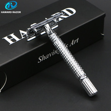 HAWARD Razor Men's Double Edge Safety Razor Stainless Steel Shaver Manual Wet Shaver For Shaving & Hair Removal With 10 Blades