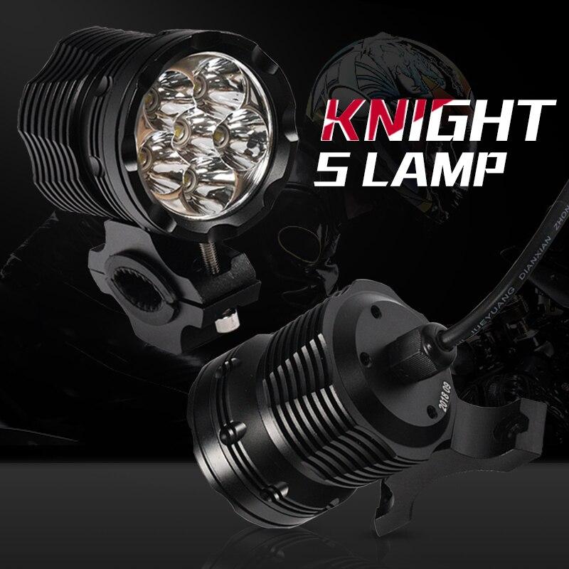 Universel 1 pcs Moto LED Phare 3000LMW puce U5 Moto Spotlight Conduite Rue Moto Brouillard Spot Lampe