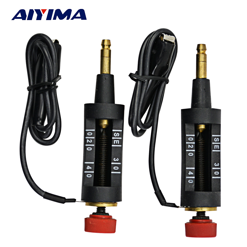 AIYIMA 2pcs Car Auto Adjustable Ignition Coil Tester Plug Spark Wire Switch Circuit Tool ignition spark plug wire wires cable set for chevy ls1 ls2 ls3 ls6 ls7 ls9 msd 32819 32813 ix tr55ix ls7 7164