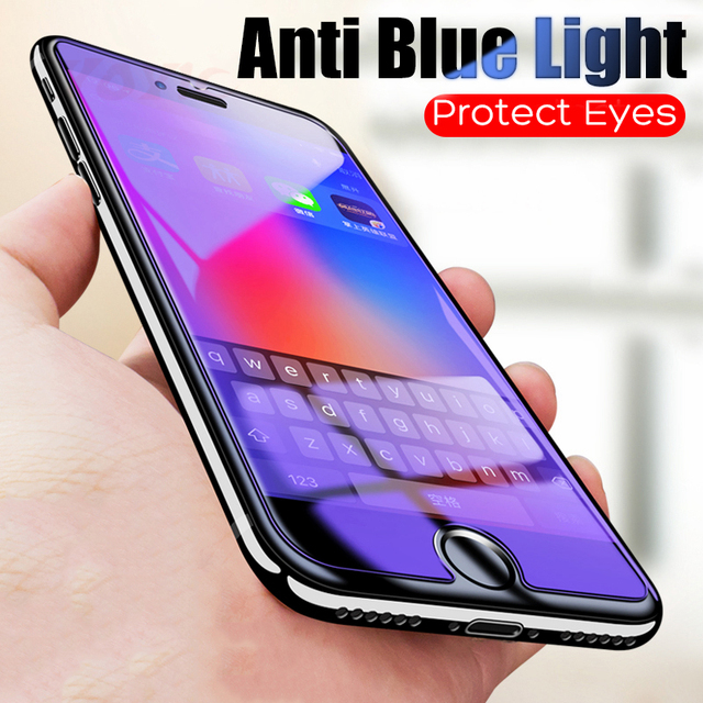 34bd2cd8163 YOYIC Anti Blue Light Tempered Glass For iPhone 8 7 6 6S Plus Screen  Protector Protective Glass On The For iPhone X 7 6 5 5s