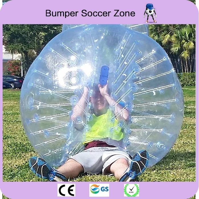 Envío gratis 0.8 mm 100% TPU 1.5 m bola de fútbol inflable burbuja bola de burbuja de parachoques bola inflable Zorb bola de aire bola de fútbol