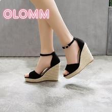 Seasonal hillside with high heel compound sandals buckle shoe girl