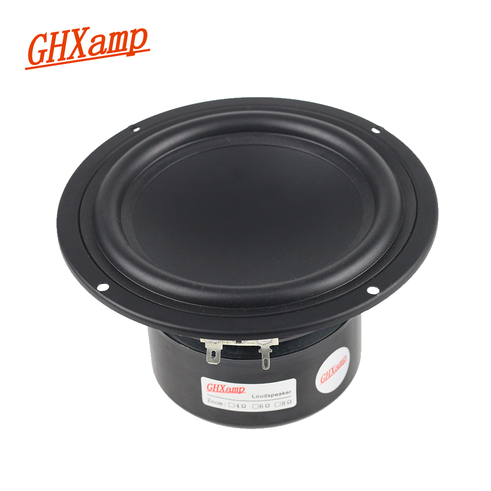 GHXAMP 5 inch 4OHM Subwoofer Woofer Speaker Linen Cone Hifi Surround Home Theater Bookshelf BASS SoundBox DIY 30W 60W 1pc ghxamp 3 inch 4ohm 30w midrange speaker car speaker mid human voice sound good loudspeaker for lg diy 2pcs