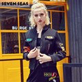 La moda de Nueva Punk Rave Chic Negro Bomber Jacket Women Básica Abrigos Recortada Corta Outwear Béisbol Chaquetas Blusón Femme