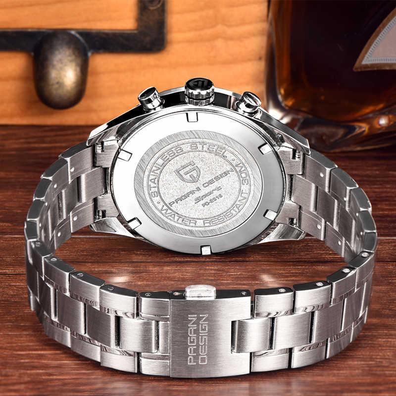 PAGANI PROJETO Marca De Luxo Cronógrafo Relógios Homens de Negócios 30 m Japonês Movimento Quartz Relógio Dos Homens Do Relógio À Prova D' Água reloj hombre