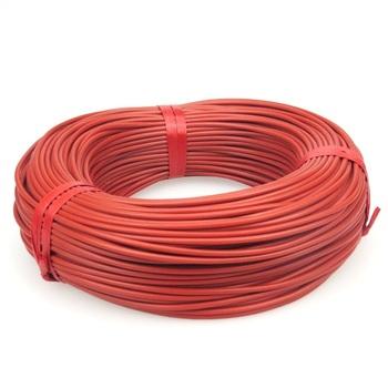 Minco heat 10 do 100 metrów 12K podłogowy ciepły kabel grzewczy 33ohm m przewody grzewcze z włókna węglowego tanie i dobre opinie RUBBER Carbon CF-12-R Stranded Ogrzewanie Izolowane Carbon fiber heating wire 33 Ohm m Silicone rubber 3±0 2 mm 7~300 V