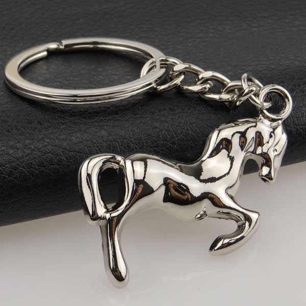 1 PC Nice Steed Horse animal pet keychain Keyring Keychain Classic 3D Pendant Key Bag Chain Creative Gift