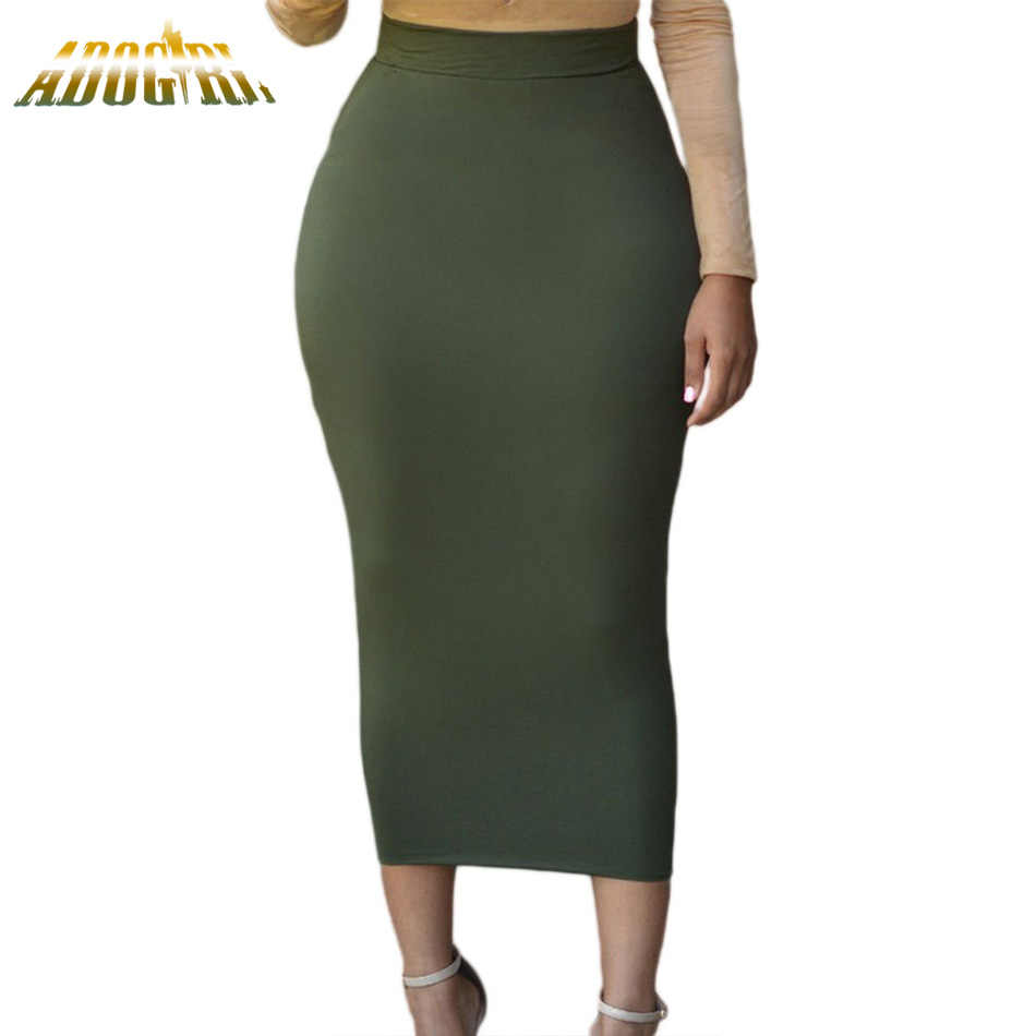 af01e036198 Detail Feedback Questions about Women Office Lady Black Long Pencil Skirt  Bodycon Slim Vintage Female Skirt Green High Waist Casual Brief Maxi Skirt  for ...