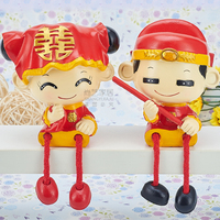 Free Shipping Resin Couple Doll Ornaments Garden Furniture Creative Home Accessories Wedding New Home Decorations