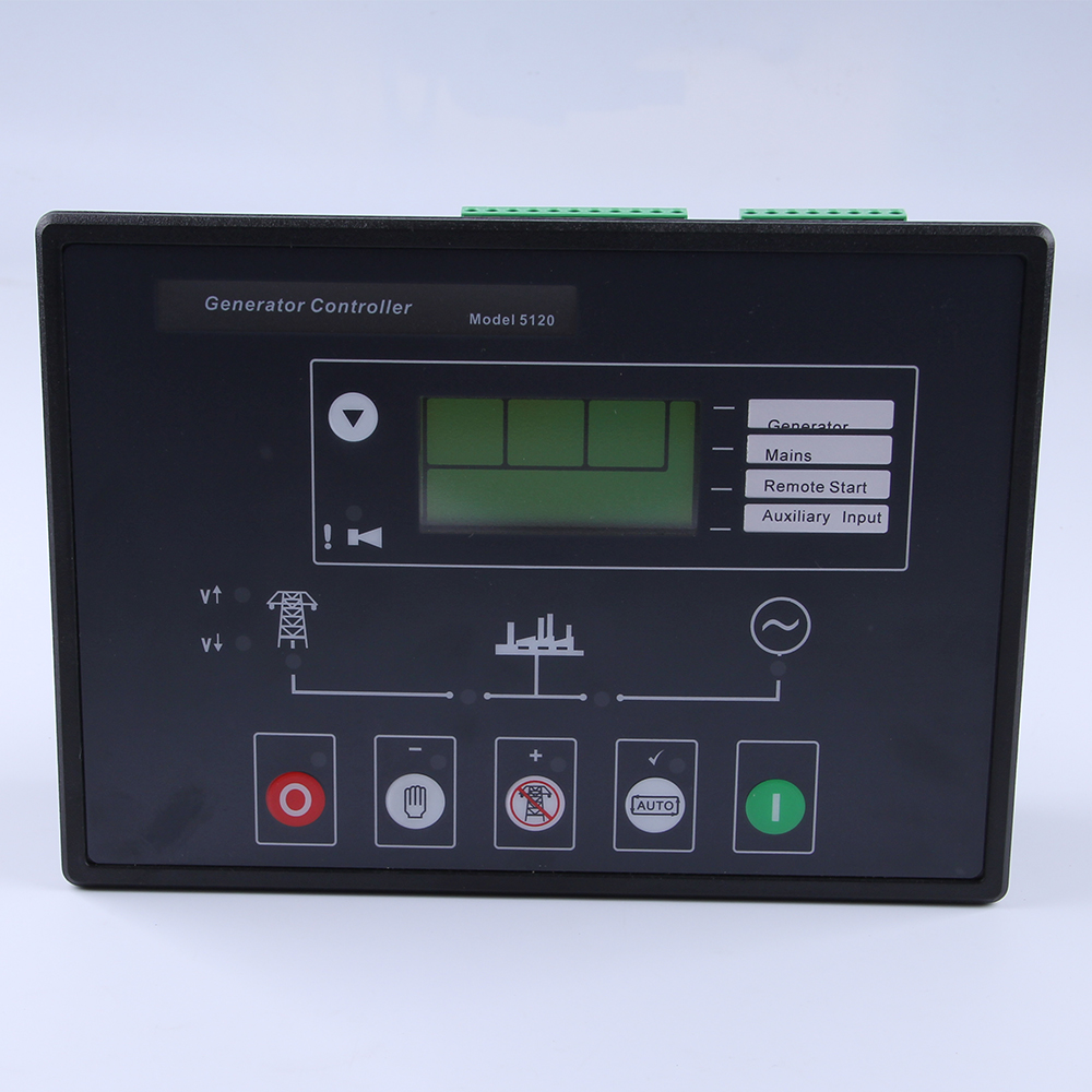 Generator Controller 5120 Auto Start Control Module  with PC connector Use P810 cable and software connect computer free shipping dse7220 engine generator controller module auto start control suit for any diesel generator