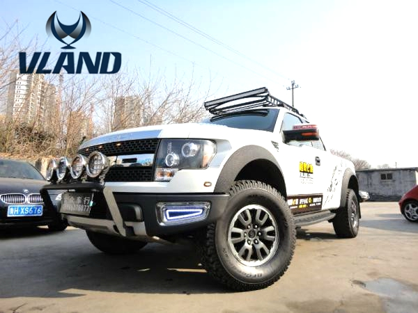 Free shipping vland factory headlamp for Raptor F150 Headlights LED angel eyes 2007-2010 car accessories play and plug design free shipping vland factory car parts for camry led taillight 2006 2007 2008 2011 plug and play car led taill lights