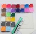 Perler Beads 2.6mm Fuse DIY Educational Craft 12500Pcs box 25 Colors EVA Material 5 iron Paper +1Tweezer +1 Pegboard