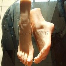 23cm 37 # silicone bichano fetish falso pé, interior osso para dentro, dedo do pé mover livremente, pés/sapato modelo f26