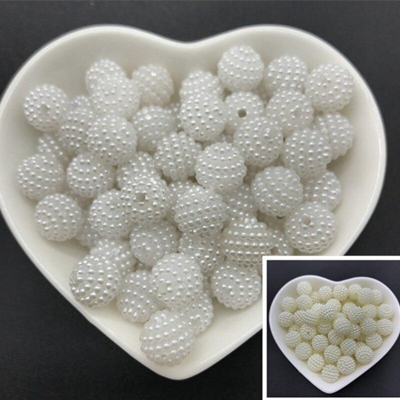 Акриловые бусины 10 мм, 12 мм, 14 мм, 20 мм, бусины Bayberry, круглые свободные строительные бусины, аксессуары