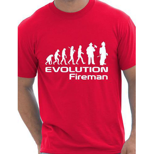 4cad2c50f Evolution Of A Fireman Gift Firefighter T shirt More Size and Colors funny  interesting