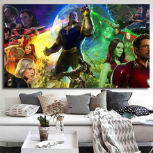 цены на Marvel Super Heroes Avengers Thanos Thor Canvas Painting Oil Print Poster Wall Art Picture for Living Room Home Decoration  в интернет-магазинах