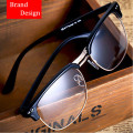 Classic Italy Design Women and Men Eyewear Half Frame Optical Glasses for Prescription and Decoration