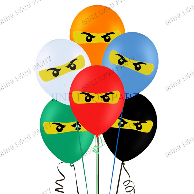 "Quantity Ninja Black Latex 11/"" Balloon Party Decorating Supplies 10"
