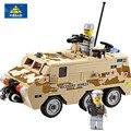 KAZI 84026 DIY Бронетранспортер Строительные Блоки Бак APC Troop Crawler Кирпичи brinquedo Военные Игры Игрушки Дети Подарок