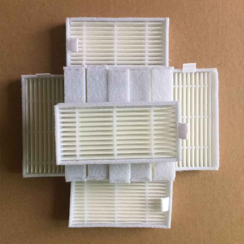10pcs/lot Vacuum Cleaner Robotic Parts HEPA Filter Replacement for Panda x500 Ecovacs Dibea X500 X580 Mirror CR120 CR121 10pcs replacement hepa dust filter for neato botvac 70e 75 80 85 d5 series robotic vacuum cleaners robot parts